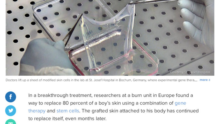 Skin culture combined with gene therapy leads to a breakthrough treatment.